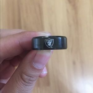 Black Oakland Raiders Ring